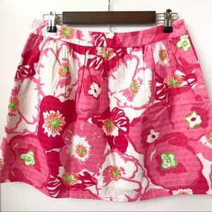 Lilly Pulitzer Skirts - Lilly Pulitzer Pink Floral Skirt • Size 8